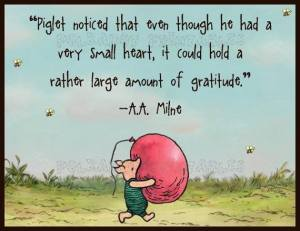 piglet and gratitude