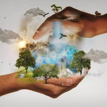 earth between hands